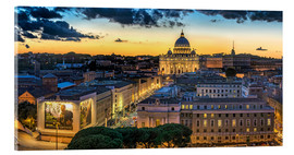 Acrylglas print  Roma St. Peters dome - FineArt Panorama
