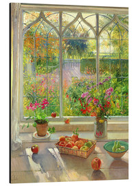 Aluminium print  Overlooking the garden - Timothy Easton