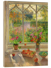 Hout print  Overlooking the garden - Timothy Easton