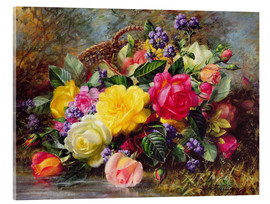 Acrylglas print  Roses by a Pond - Albert Williams