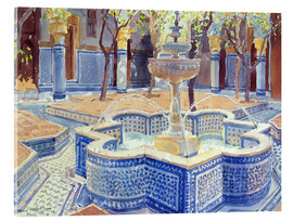 Acrylglas print  The blue fountain - Lucy Willis