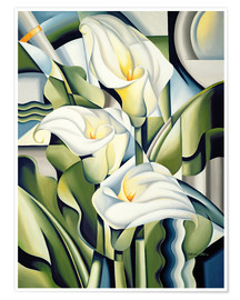 Premium poster  Cubist lilies - Catherine Abel