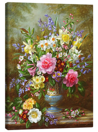 Canvas print  Bluebells, daffodils, primroses and peonies - Albert Williams