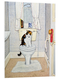 PVC print  Cat on the Loo - Ditz