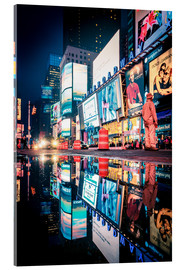 Acrylglas print  Broadway, Times Square by night - Sascha Kilmer