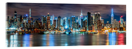 Acrylglas print  New York City Skyline panoramic view - Sascha Kilmer