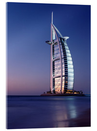 Acrylglas print  The Burj Al-Arab at dusk - Ian Cuming