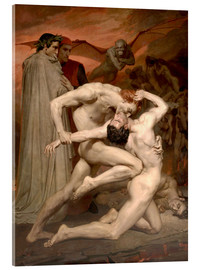 Acrylglas print  Dante en Vergilius in de hel - William Adolphe Bouguereau