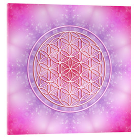 Acrylglas print  Flower of life - unconditional love - Dolphins DreamDesign
