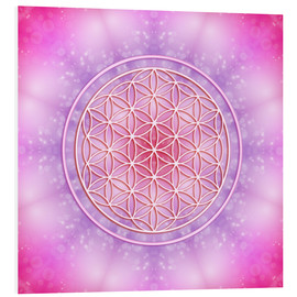 PVC print  Flower of life - unconditional love - Dolphins DreamDesign