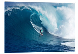Acrylglas print  Giant wave off Maui - Ron Dahlquist