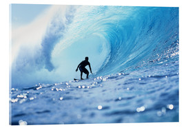 Acrylglas print  Surfer in the pipeline Barrel - Vince Cavataio