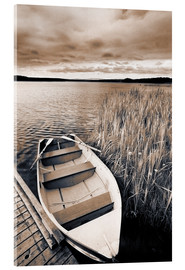 Acrylglas print  Boat on Lake Burntstick - Darwin Wiggett