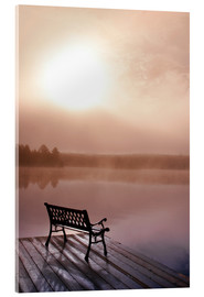 Acrylglas print  Jetty in morning fog - Doug Hamilton
