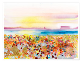 Premium poster  Field Of Joy, Abstract Landscape - Tara Thelen