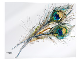 Acrylglas print  Watercolor of two peacock feathers - Tara Thelen
