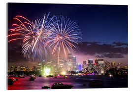 Acrylglas print  New Year's Eve in Sydney - Matteo Colombo