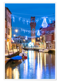Premium poster  Canal in Murano at Christmas, Venice - Matteo Colombo