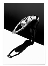 Premium poster  A woman jumps into the water II - Ben Welsh