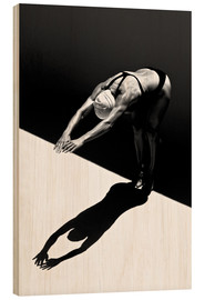 Hout print  A woman jumps into the water II - Ben Welsh