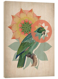 Hout print  The happy lotus - Mandy Reinmuth