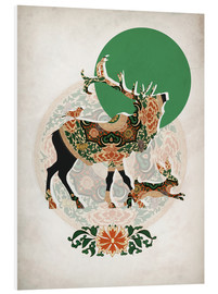 PVC print  Stag, bird and hare - Mandy Reinmuth