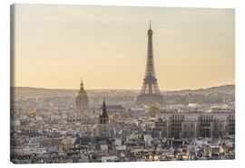 Canvas print  Paris in the evening light - Matteo Colombo