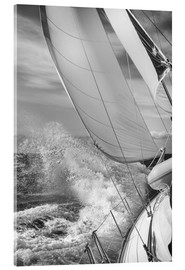 Acrylglas print  Sailing black / white - Jan Schuler