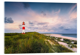Acrylglas print  Lighthouse in the morning light (Sylt / Elbow / List East) - Dirk Wiemer