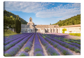 Canvas print  Famous Senanque abbey with lavender field, Provence, France - Matteo Colombo