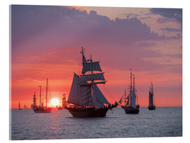 Acrylglas print  Sailing ships on the Baltic Sea in the evening - Rico Ködder