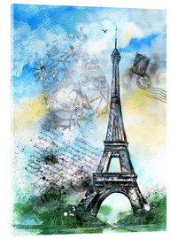 Acrylglas print  Memory of Paris - Jitka Krause