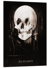 Aluminium print  All is vanity (Sepia) - Charles Allan Gilbert
