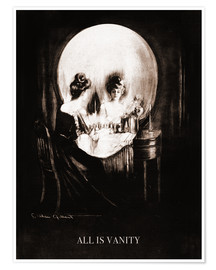 Premium poster  All is vanity (Sepia) - Charles Allan Gilbert
