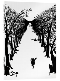 Acrylglas print  The cat who went for a walk with himself - Rudyard Kipling