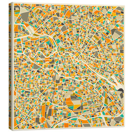 Canvas print  Berlin map colorful - Jazzberry Blue