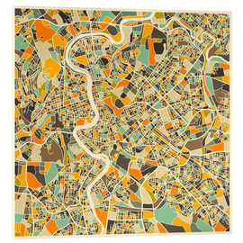 Acrylglas print  Rome Map - Jazzberry Blue