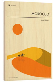 Hout print  Morocco - Jazzberry Blue