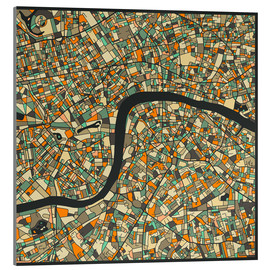 Acrylglas print  London Map - Jazzberry Blue