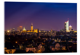 Acrylglas print  Leipzig Skyline at night - Martin Wasilewski