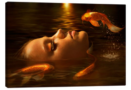 Canvas print  Golden fishes - Elena Dudina
