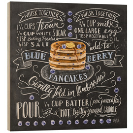 Hout print  Blueberry pancakes recipe - Lily & Val