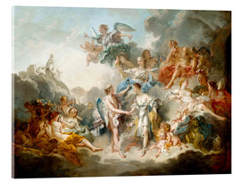 Acrylglas print  Cupid and Psyche celebrate wedding - François Boucher