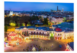 PVC print  View from the Vienna Giant Ferris Wheel on the Prater - Benjamin Butschell