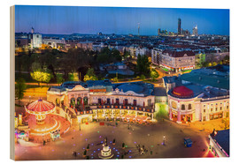 Hout print  View from the Vienna Giant Ferris Wheel on the Prater - Benjamin Butschell