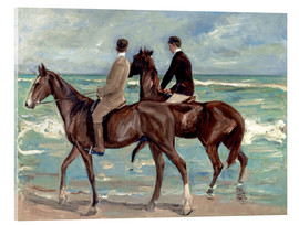 Acrylglas print  Two riders on the beach - Max Liebermann
