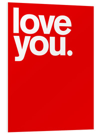PVC print  Love you. - THE USUAL DESIGNERS
