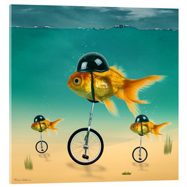Acrylglas print  gold fish - Mark Ashkenazi