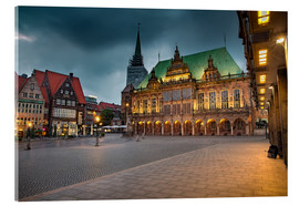 Acrylglas print  Bremen Market Square with City Hall - Rainer Ganske