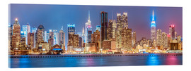 Acrylglas print  New York City Neon Colors Skyline - Sascha Kilmer